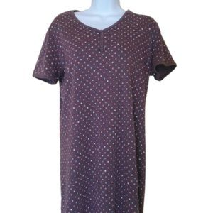 Brown Polka Dot Night Gown Size Large